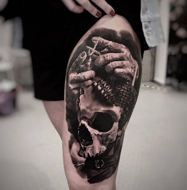 Skull Tattoo Designs For Girls