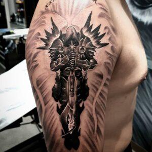 angel tattoo idea