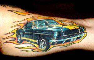ford mustang tattoo idea