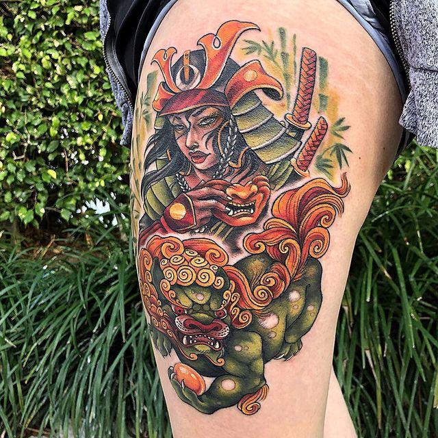 japanese tattoo hip