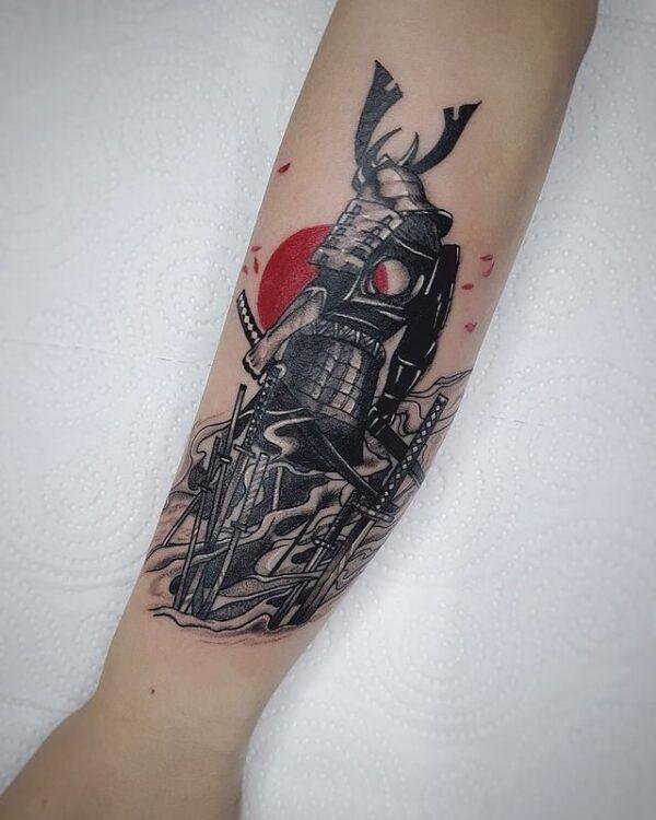samurai forearm tattoo
